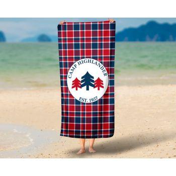 Camp Highlander Bartley Premium Oversized Beach Towel