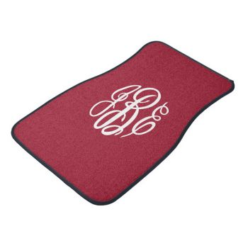 Personalized Felt Car Mats - FRONT