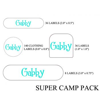 Personalized Super Camp Label Pack
